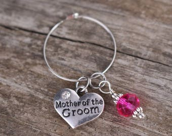 Wine Glass Charm, Mother of the Groom Gift, Mother of the Bride Gift, Mother of the Groom Wine Glass Charm, Mother of the Bride Wine Glass