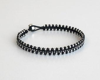 L'Fermeture Éclair Black Rhodium Sterling Silver Bracelet