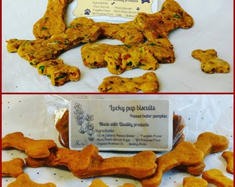 Gourmet dog treats -2 lb. lucky dog biscuits