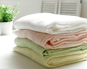 Winkled Cotton Double Gauze, Crinkle Gauze, Yoryu Gauze by Yard - 4 Colors Selection