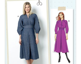 Butterick Sewing Pattern B6482 Misses' Raglan Sleeve Dress with Contrast Topstitching
