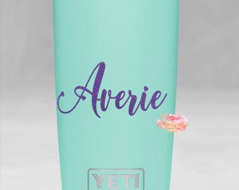 Yeti Cup Decal Yeti Colster Decal Custom Yeti Colster Yeti Decal For Women Name Decal Instant Pot Phone Decal Personalized gift for her