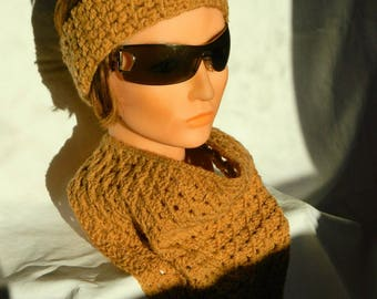 Women crochet Tan headband