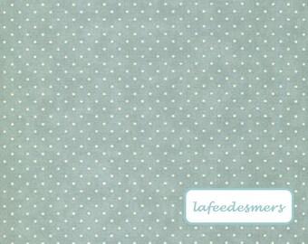 NEW * MODA fabric. Gustavian blue polka dots. Sold in 10 cm