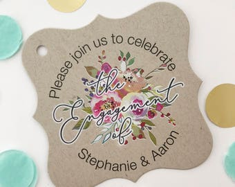 Penelope - Please Join us to Celebrate, Kraft Wedding/Engagement/Celebration/Event Hang Tags (FS-379-017-KR-WT-B)