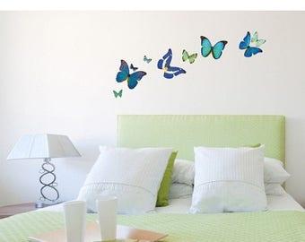 20% OFF Summer Sale Natural Butterflies wall decal, sticker, mural, vinyl wall art