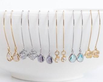 Long dangle earrings, Trending Earrings, Jewelry Gift, Christmas Gift For Daughter, Gold Dangle Earrings, Canada