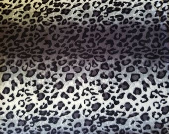 Shades of Black Stripe Animal Skin Print Fleece Fabric (1.5 yards)
