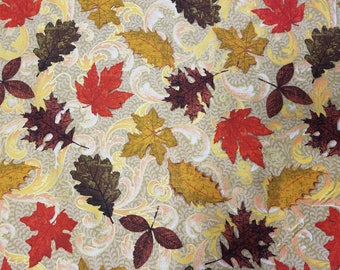 Scroll Leaves Cotton Fabric Sold by the Yard