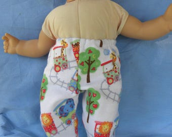 """Bitty Baby/Twin Boy Pajama Bottoms. Fits Logan Custom made Doll Clothes for American Doll - Girl or Boy Bitty Baby/Twin or similar 15"""" dolls"""