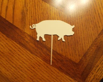 12 Pig Cupcake Toppers! Choose your color!!
