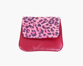 Women's wallet 'Daffi Leo' / Burgundy wallet / Small leather wallet / Leather coin purse / Leather Card Holder / Gift for Her