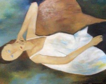 Oil on canvas reproduction of modigliani