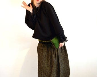 skirt with circle green