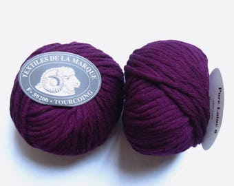 7 large skeins Pure wool N 8 plum 07
