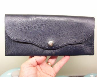 Navy wallet, purse. Cheque book holder. Pension book holder. Photo holder. allowance book holder. Case. Purse. Wallet.