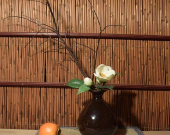 Vintage Chinese Dark Brown Pottery Jar Vase