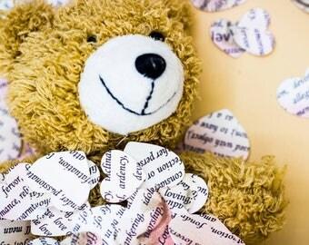 Poetry Novel Heart Confetti | Book Confetti | Party Decor | Table Decor