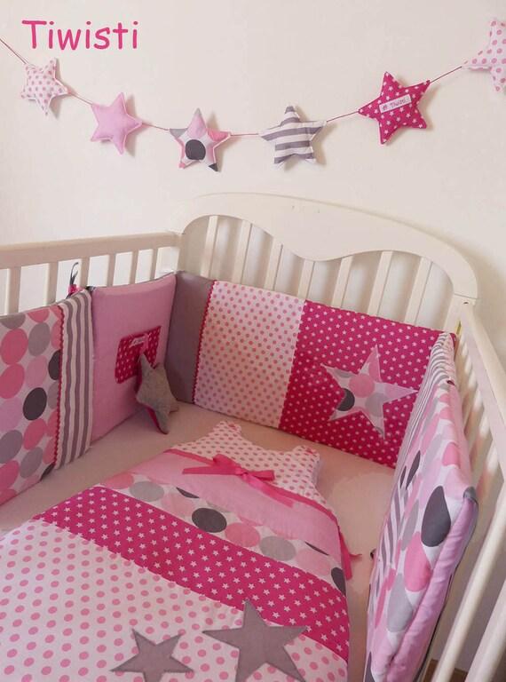 Ensemble original tour de lit et gigoteuse 0 6 mois gris - Tour de lit pour bebe fille ...