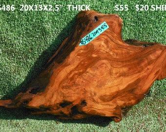 BS486  Redwood  burl slab