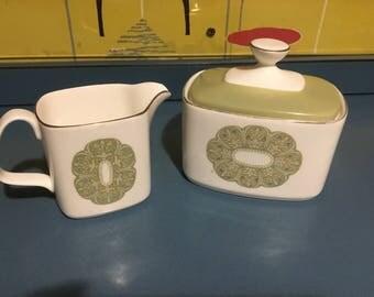 Royal Doulton, SONNET, Milk Jug & Lidded Sugar Bowl