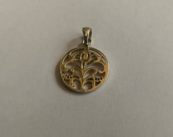 Handmade Solid 925 Sterling silver pendant.