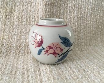 Elizabeth Arden, Royal Pavilion at Brighton, Porcelain Ginger Jar Vase, Elizabeth Arden Jar, Floral Jar