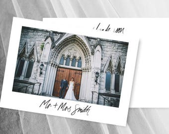 Wedding Thank You Cards Photo Card Postcard Template Download Printable