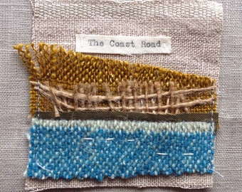 The Coast Road - Textile Art, Textile Collage, Handmade Textile Art, Irish Textile Collage,  – Handmade in Ireland