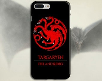 Targaryen x Fire and Blood x Game of Thrones Phone Case iPhone X, iPhone 7 Plus, Tough iPhone Case, Galaxy s8, Samsung Galaxy Case, Khaleesi