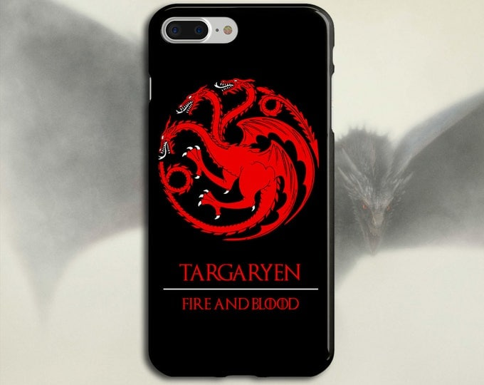 Featured listing image: Targaryen x Fire and Blood x Game of Thrones Phone Case iPhone 7, iPhone 7 Plus, Tough iPhone Case, Galaxy s8, Samsung Galaxy Case, Khaleesi