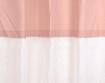 """Cozy Rose"" 150 X 250 lace curtain and sheer white"