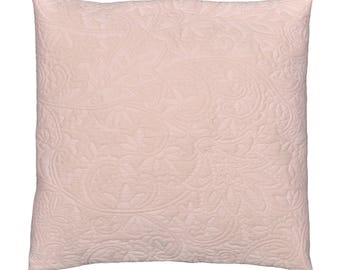 Pillow + removable 42x42cm 'ROSE' damask fabric lining