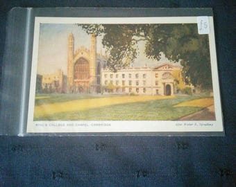Vintage postcard of King's College and Chapel, Cambridge