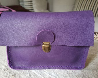 Lilac leather with loop for Belt pouch