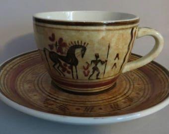 Teacup set-southwestern
