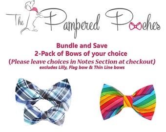 BUNDLE and SAVE 2Pack bow ties for dog/cat collars, patriotic, pet bow tie, collar bow tie, wedding bow tie