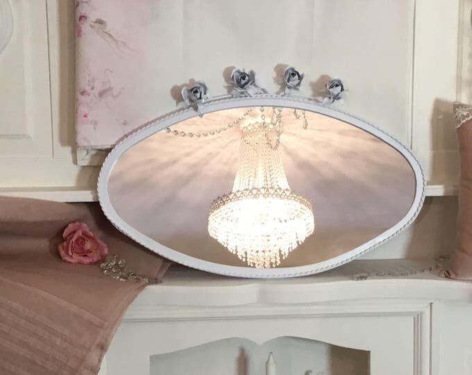 Mirror with roses Horizontal