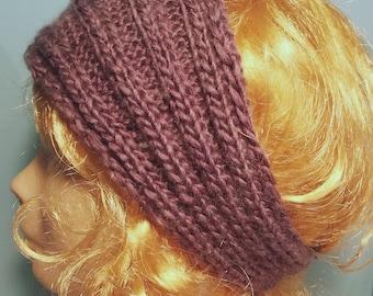 Purple /lilas ear warmer headband