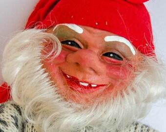 Big Norwegian Arne Hasle  Elf Gnome Santa - Vintage  Scandinavian Norway Nisse Tomte Latex