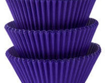 75 Ct Purple Baking Cups - Cupcake Liners - Standard 2 Inch Fancy Cupcake Liner - Fun Halloween Party Color!