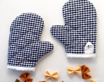 Kids Oven Mitt - Boys Girls Cooking - Toddler Baking - Child Play Kitchen - Pretend Play