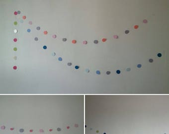 colorful round paper Garland