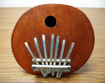 Kalimba Thumb Piano - 7 keys - Coconut Shell