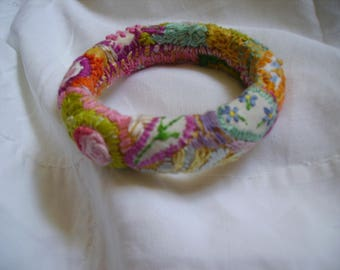hand-embroidered bracelet