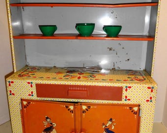 1960s Child's Tin Litho Hutch by Ideal.