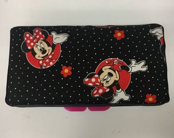 disney Minnie Mouse black baby wipes  travel case