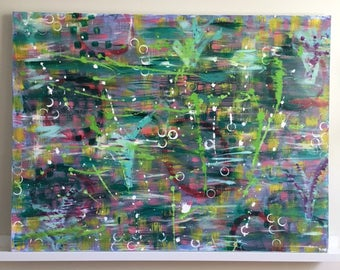 "Large Abstract Painting Original Acrylic Art ""Dublin"""