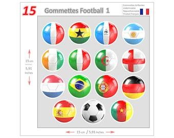 Mini stickers Soccer GOM013 - Gommettes Football GOM013