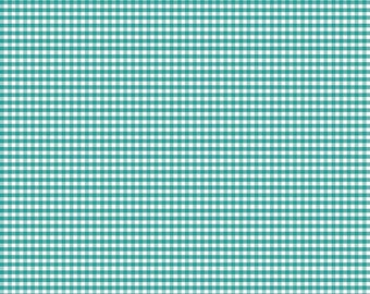 NEW!! Fabric by the Yard - Fat Quarter Bundle - Quilt Fabric - Gingham fabric - Teal Gingham - Riley Blake Designs - Small Gingham Teal